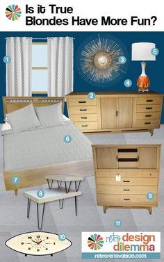 Bedroom design ideas for Robert's blonde vintage furniture — Retro Renovation