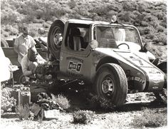 """Drino Miller's first race was the inaugural 1967 NORRA Mexican 1000 as part of Vic Hickey's Hurst Performance """"Baja Boot"""" team. Built in just 30 days, the radical Boot suffered a DNF due to a broken rear suspension. The car was later owned by Steve McQueen."""