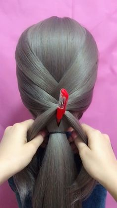hairstyle_biing's short video with ♬ original sound – hairstyle_biing styles coiffure amour mode femmes - DiyForYou Creative Hairstyles, Girl Hairstyles, Braided Hairstyles, Curly Hair Styles, Natural Hair Styles, Hair Upstyles, Hair Growth Oil, Hair Videos, Curling