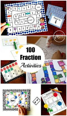 100 Fraction Activities To Help Your Students Master Fractions.includes introducing fractions, equivalent fractions, comparing fractions, adding and subtracting fractions, multiplying fractions and dividing fractions Introducing Fractions, Comparing Fractions, Multiplying Fractions, Equivalent Fractions, Multiplication, Ordering Fractions, Teaching Fractions, Fraction Activities, Math Activities For Kids