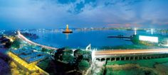 Hussain Sagar Lake, Hyderabad  It is a lake in Hyderabad, Telangana, India, build by Hazrat Hussain Shah. When the lights come on in the evening, it makes it look even more beautiful.