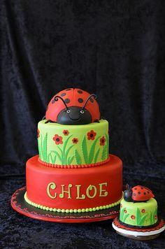 Ladybug Layered Cake