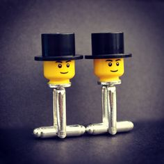 LEGO Top Hat Cufflinks, Groom Cufflinks, Best Man Cufflinks, Groom Top Hat, Top Hat and Tails Groom, Usher Cufflinks