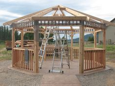 Exterior: Endearing Timber Gazebo 3x4 Take The Road Less Traveled How Big Is A Double Bed Extra Large Dog Kennel Wooden Gazebo from Small Yet Convenient Wooden Gazebo