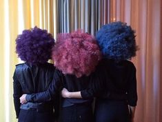 I would go for the purple hair.