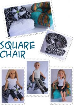 Doll Chair pattern. Play with fabric and color for endless fun! by Doll Tag Clothing