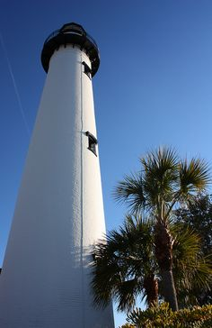 Looking Up at the Lighthouse    St. Simons Island, Georgia