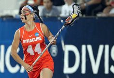 May 27, 2012; Stony Brook NY, USA; Syracuse Orange attack Devon Collins (44) with the draw control during the first half of the 2012 NCAA Division 1 Womens Lacrosse Championship against the Northwestern Wildcats at LaValle Stadium. Mandatory Credit: Anthony Gruppuso-USA TODAY Sports
