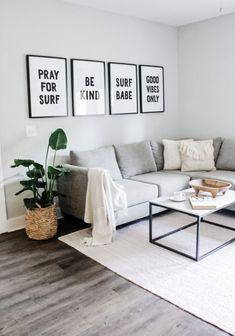 #LivingRoomEndTables Interior Design Minimalist, Interior Design Tips, Minimalist Decor, Small Home Interior Design, Minimalist Apartment, Modern Minimalist Living Room, Minimalist House, Simple Home Design, Modern Design