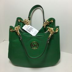 """New Michael Kors Fulton Gooseberry tote Soft leather with gold hardware accents Magnetic snap bridge closure Inside zipper pocket, 4 multifunction pockets Drop length approximately 9 1/2"""" 11"""" (H) x 13.5"""" (L) x 5"""" (D) Michael Kors Bags Shoulder Bags"""