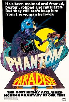 [VOIR-FILM]] Regarder Gratuitement Phantom of the Paradise VFHD - Full Film. Phantom of the Paradise Film complet vf, Phantom of the Paradise Streaming Complet vostfr, Phantom of the Paradise Film en entier Français Streaming VF Horror Movie Posters, Horror Films, Film Posters, Cinema Posters, Phantom Of The Paradise, Phantom Of The Opera, 1970s Movies, Vintage Movies, Movies 2019