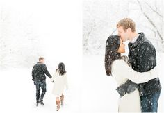 Winter engagement shoot, Snowy engagement, Minnesota wedding photography by Canary Grey