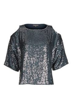 Cold Shoulder Sequined Top from Topshop R980,00