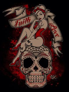 Day of the dead pinup