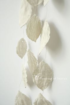 porcelain leaves garland: leave of porcelain - gorgeous