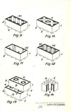 Lego Brick Patent Drawing