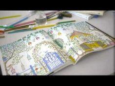 """Colorindo o livro """"Jardim Secreto"""", de Johanna Basford"""