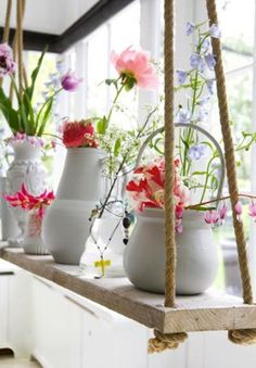 Brighten up your kitchen with flowers! A touch of colour to shake off the winter gloom :) www.ellenmarygardening.co.uk