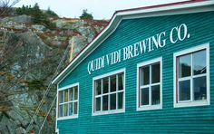 Quidi Vidi Brewing Co.-the creators of Iceberg beer Newfoundland, Canada Newfoundland And Labrador, Newfoundland Canada, Unique Homes For Sale, Beautiful Islands, Beautiful Places, Canada Travel, Nova Scotia, East Coast, House Colors
