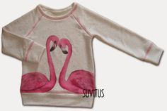 Unique hand painted flamingo shirt to my daughter. Made by Suvitus. It's so cute ! Flamingo Shirt, To My Daughter, Hand Painted, My Love, Sweatshirts, Unique, Cute, Sweaters, Kids