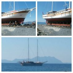 Yoepeeee first ScicSailing yacht launched yesterday :-) Season starts, happy :-)