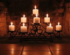 Fireplace Candelabra With 8 Candles - Home Design and Decor Ideas Fireplace Filler, Fireplace Candelabra, Fireplace Inserts, Fireplace Candle Holder, Candle Holders, Fireplace Screens, Unused Fireplace, Fake Fireplace, Faux Fireplace Insert