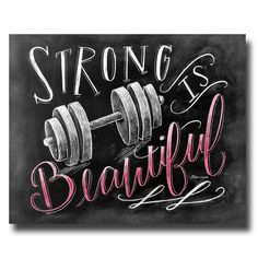 Fitness Motivation Weightlifting Strong Is by TheWhiteLime on Etsy