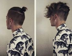 •Little man bun with undercut please•