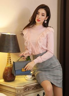 Korean Women`s Fashion Shopping Mall, Styleonme. New Arrivals Everyday and Free International Shipping Available. Korean Fashion Trends, Fashion Tips For Women, Asian Fashion, Womens Fashion, Beautiful Asian Women, Korean Women, Fashion Branding, Asian Beauty, Fashion Models