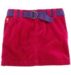 NWT Ralph Lauren Girls Fuchsia Pink Corduroy Mini Skirt Size 14  #RalphLauren #DressyEverydayHoliday