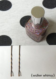 Insanely easy glitter hair pins.