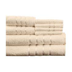 100% Egyptian Cotton Plush 8 Piece Towel Set