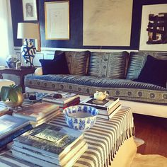 New blue color inspiration in my living room. By William R. McLure IV