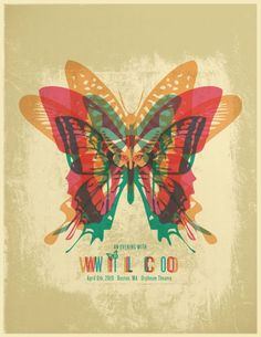Concert poster for Wilco at at the Orpheum in Boston, April 2010.