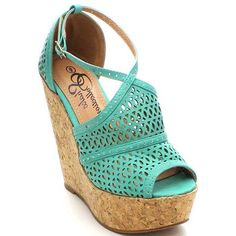 Shake Brielle Women's Hollow Out Ankle Strap Platform Wedges ($43) ❤ liked on Polyvore featuring shoes, sandals, wedges, heels, ankle tie wedge sandals, ankle strap wedge sandals, heeled sandals, ankle strap heel sandals and wood sandals