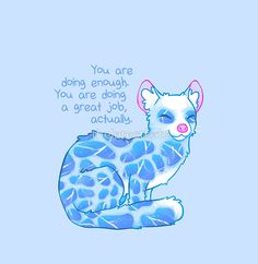 """'""""You Are Doing Enough"""" Water Linsang' Chiffon Top by thelatestkate Inspirational Animal Quotes, Cute Animal Quotes, Uplifting Quotes, Cute Quotes, Best Quotes, Motivational Quotes, Cute Animals, Cute Animal Drawings, Cute Drawings"""
