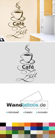 Wandtattoo Café Zeit als Idee zur individuellen Wandgestaltung. Einfach Lieblingsfarbe und Größe auswählen. Weitere kreative Anregungen von Wandtattoos.de hier entdecken!