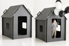 Collapsible plywood playhouse - great design!  Unfortunately, only sold in Finland right now.