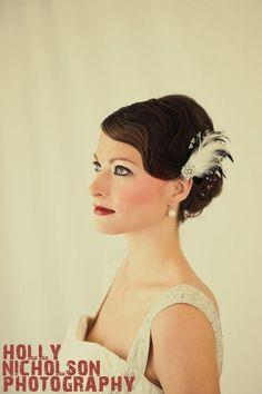 Vintage Wedding Hair & Makeup  copyright, Holly Nicholson Photography  Model, DenaZ  Hair & Makeup, Jessica Mariin