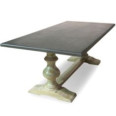 Stone Grey Top French Country Table   Belle Escape