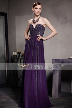Chic sweetheart #ballgown! Wear it to have a wonderful party time! #2016prom #wedding #promdress #longgown