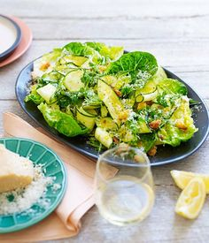 Zucchini, cos, parmesan and tarragon salad recipe | The Town Mouse, Melbourne - Gourmet Traveller