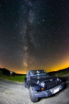 My brother's JK and the night sky #jeep #jeeplife #Wrangler #jeeps #Cherokee #JeepMafia #offroad #4x4