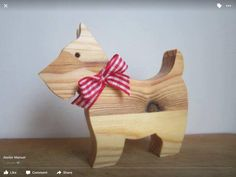 wooden dog by Onlywood53 on Etsy