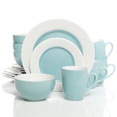 Service de table 12 pi/èces en m/élamine Blanc cass/é