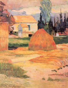 Paul Gauguin.  Bauernhaus in Arles. 1888, Öl auf Leinwand, 91,5 × 72,5 cm. Indianapolis, Museum of Art. Synthetismus, Landschaftsmalerei. Frankreich. Postimpressionismus.  KO 01354