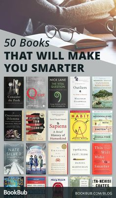52 Books that Will Make You Smarter These thought-provoking books from authors s. - 52 Books that Will Make You Smarter These thought-provoking books from authors such as Malcolm Glad - Book Challenge, Reading Challenge, Book Suggestions, Book Recommendations, Best Books To Read, My Books, Free Books, Books To Read In Your 20s, Best Books To Gift