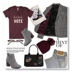 """""""Vote for the World  Peace.."""" by gul07 ❤ liked on Polyvore featuring Versace, Paul Smith, Polaroid and Undercover"""