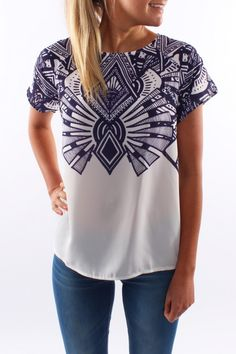 Egyptian Top Blue
