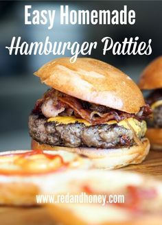 Easy homemade hamburger recipe. This is perfect for backyard summer picnics and bbq's.